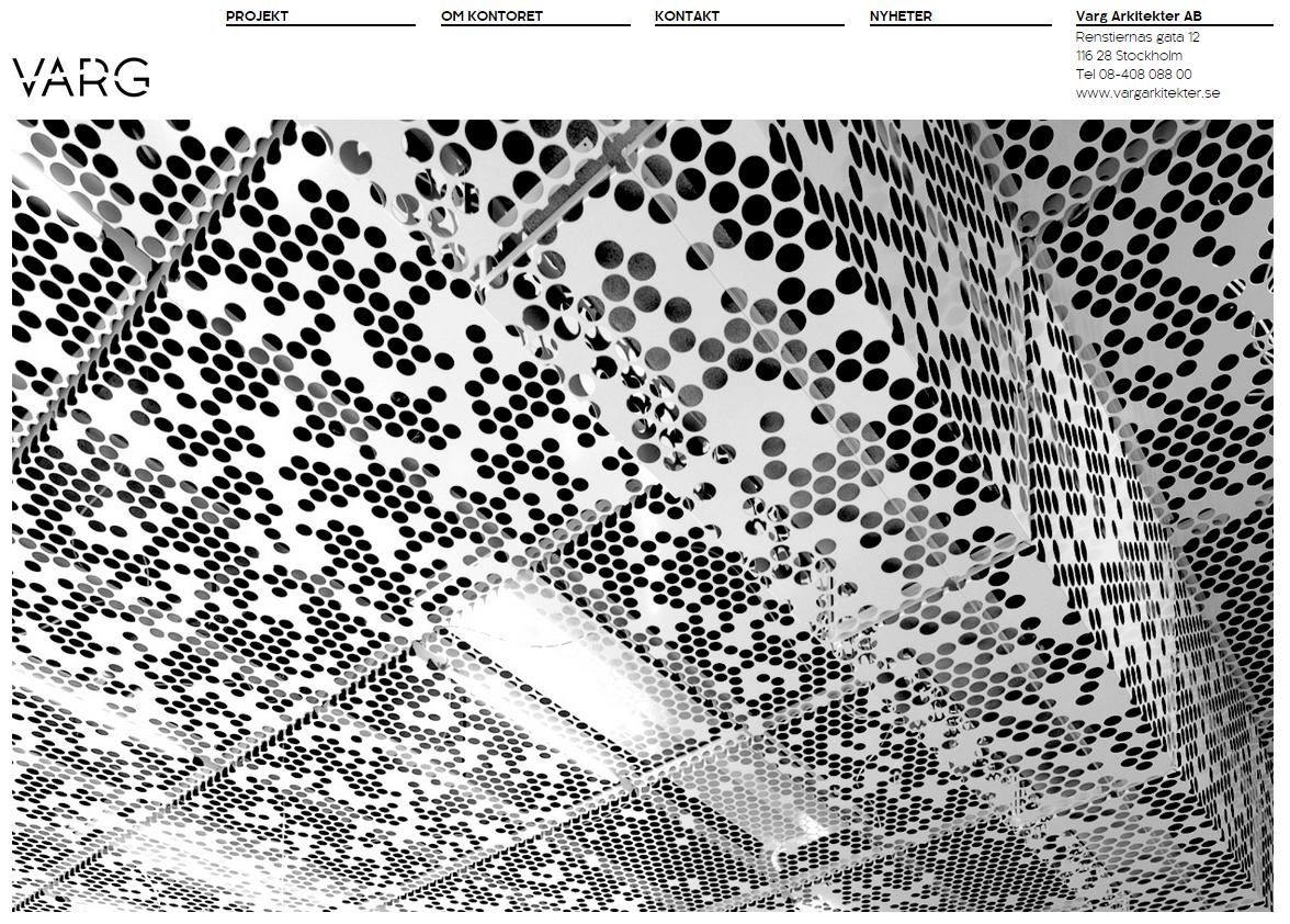 Design, Varg arkitekter startsida